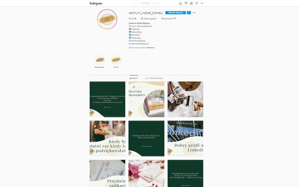 Centrum Kobiet Biznesu - Instagram