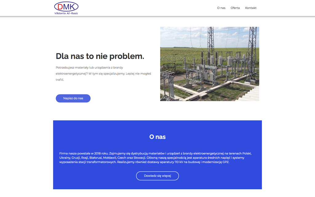 DMK Victoria - strona internetowa